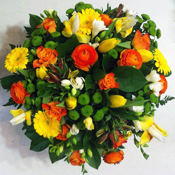 Bouquet in giallo e arancio